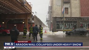 Aragon Ballroom wall topples under weight of snow