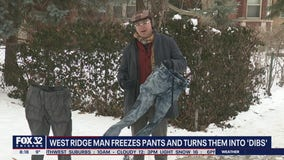 West Ridge man freezes pants to make his own 'dibs'