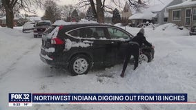 NW Indiana buried by 18 inches of snow