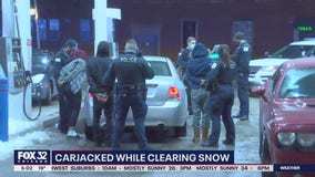 Man refuses to press charges after he's carjacked while shoveling Noble Square parking spot