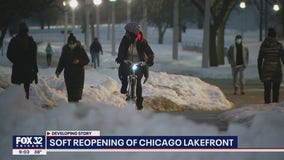 Chicago's lakefront reopens for first time amid pandemic