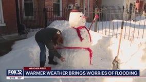 Flooding concerns rise as snow, ice melt across Chicago area