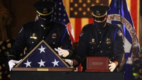 Fallen Capitol police officer BrianSicknick lies in honor at US Capitol Rotunda