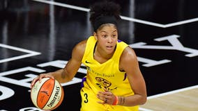 Sky sign Chicago-native Candace Parker