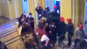 New surveillance video from Capitol Riot shows moments building was stormed