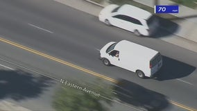 Woman in alleged stolen van leads police in bizarre pursuit in El Sereno, DTLA areas