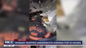 Schiller Park woman survives after being trapped underneath awning for 10 hours