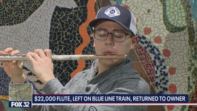 Musician reunited with flute worth $22K after leaving it on a Blue Line train