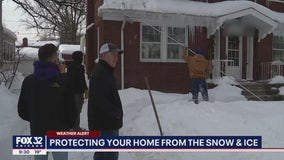 'Safety first, safety always': Local roofing company warns of dangers of heavy snow, ice