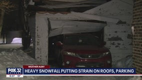 Heavy snowfall in Chicago putting strain on roofs, parking
