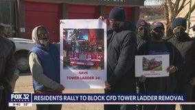 South Side residents rally to block CFD Tower Ladder removal