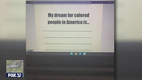 Homework assignment asks 2nd graders: 'My dream for colored people in America is...'