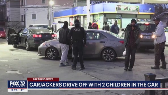 Carjackers drive off with two small children in the car