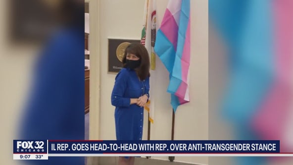 Illinois Rep. Marie Newman places transgender flag outside office, Rep. Marjorie Taylor Greene responds