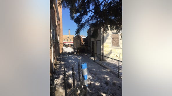 No one hurt after vacant building collapses in Chicago Lawn
