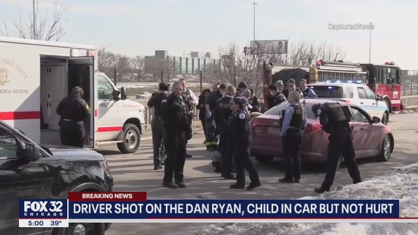 Man wounded in mid-day shooting on Dan Ryan Expy.