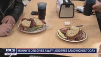 Manny's Deli giving away 1,000 free sandwiches to customers wearing masks