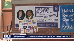 Waukegan activists protest naming middle school after Obamas