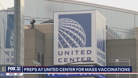 United Center makes final preparations for mass vaccination site