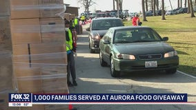 Aurora gives away free food to 1,200 families at pop-up pantry