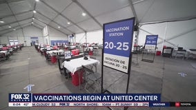 Vaccinations begin today at the United Center