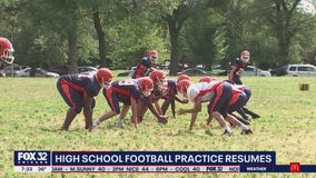 High school football practice resumes across Illinois