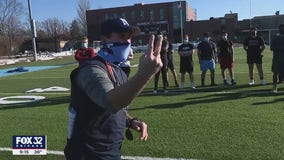 Illinois high school football teams begin practicing for unusual spring season