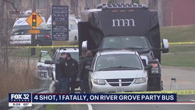 4 shot, 1 fatally, on River Grove party bus