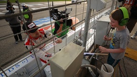 Viral videos show young NASCAR fan getting checkered flag from Ryan Blaney after Atlanta win
