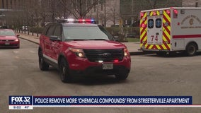 Police return to Streeterville condo with search warrant following death of tenant, discovery of pipe bombs