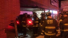 1 hospitalized after car drives into Portage Park business
