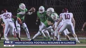 High school football resumes in Illinois