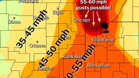55 mph wind gusts, rain to hit Chicago Thursday evening