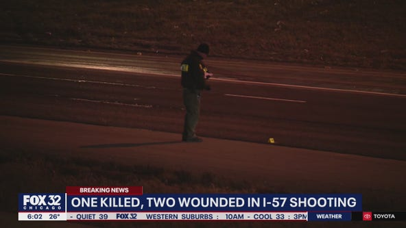 1 killed, 2 seriously hurt in I-57 shooting of people in 2 cars