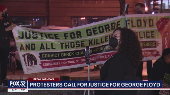 As officer's trial begins, Chicago protesters march for justice in death of George Floyd