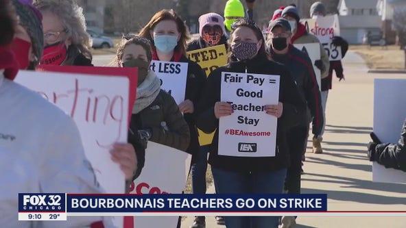 Bourbonnais teachers on strike, calling for pay raise