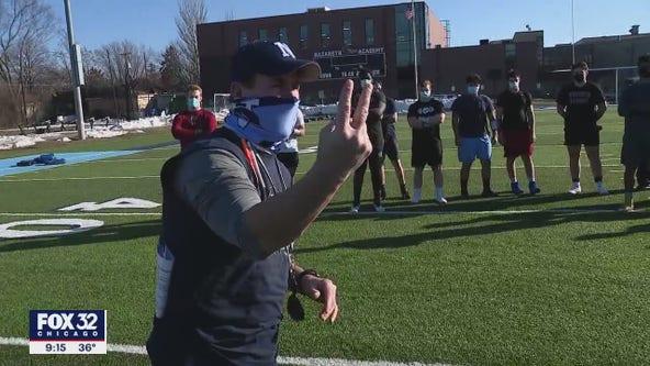 Illinois high school football teams begin practicing for unusual spring season