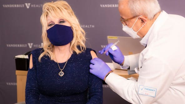 'A dose of her own medicine': Dolly Parton gets COVID-19 vaccine that she helped fund
