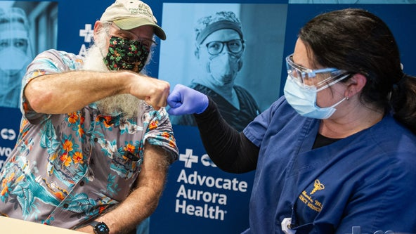 'This means everything': COVID-19 survivor receives vaccine from ER doctor who saved him
