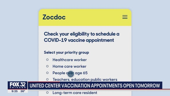 United Center vaccination appointments open Thursday