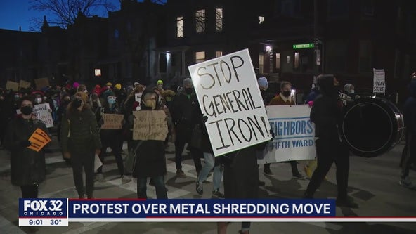 Demonstrators gather near Lightfoot's home demanding she deny permit for metal shredding company