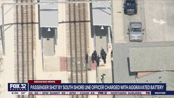 Passenger shot by South Shore Line officer charged with aggravated battery