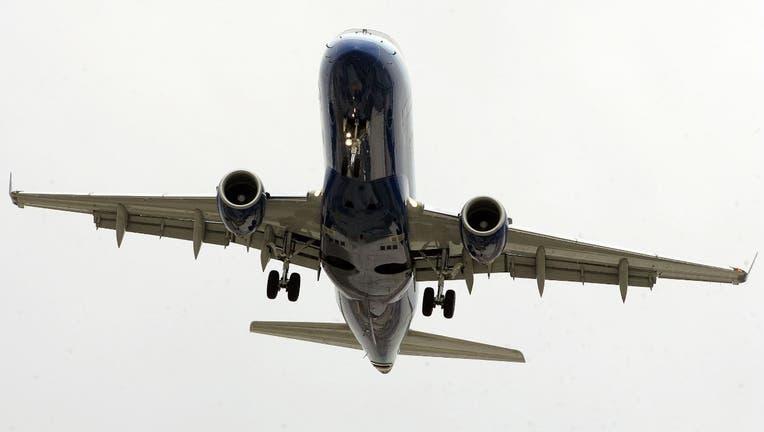 Plane landing at O'Hare