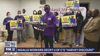 Workers at University of Chicago Medicine in Harvey say it's not fair that north suburban workers get paid more