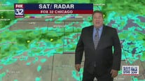 Light scattered rain will continue over Chicago area Saturday night into Sunday morning