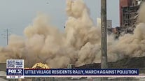 Little Village residents rally on anniversary of smokestack demolition that coated area with dust