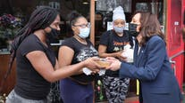 Vice President Kamala Harris visits South Side Chicago bakery
