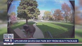 UPS driver saves Oak Park boy stuck under heavy package