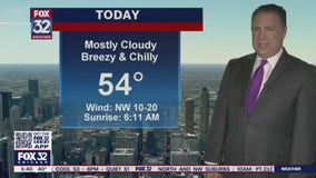 Morning forecast for Chicagoland on April 15th