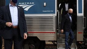 All aboard! Biden visits Philadelphia to help Amtrak mark 50 years on the rails